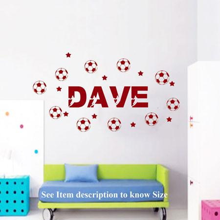 ... Wall Stickers 10 Football Custom Mural Personalized Players Name Kid  Room Vinyl Decals ... Part 92
