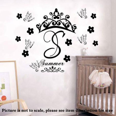 Custom Monogram Name Initials Nursery wall Stickers