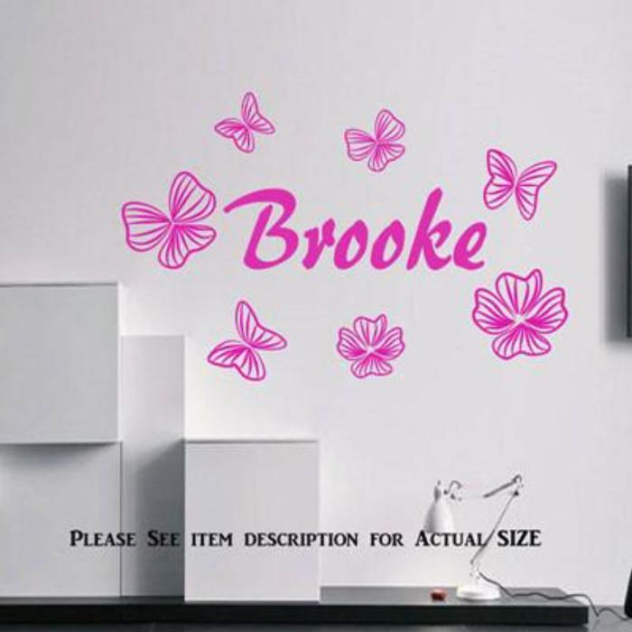 Butterfly for Wall Art with Personalised Name Sticker