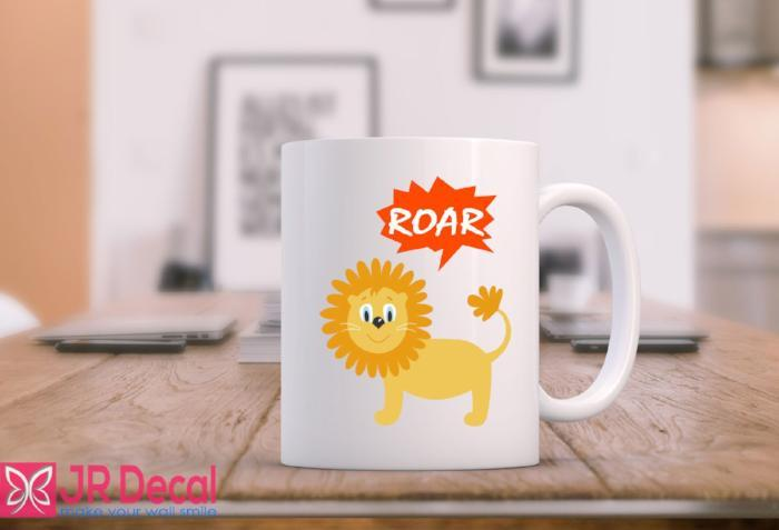 Lion with ROAR funny coffee mug novelty gift D11