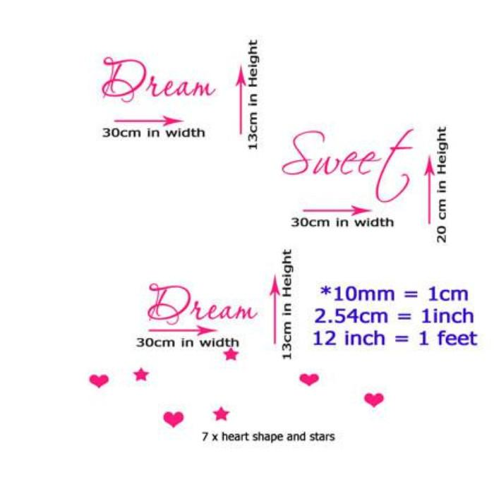 'Dream Sweet Dream'- Kids bedroom wall