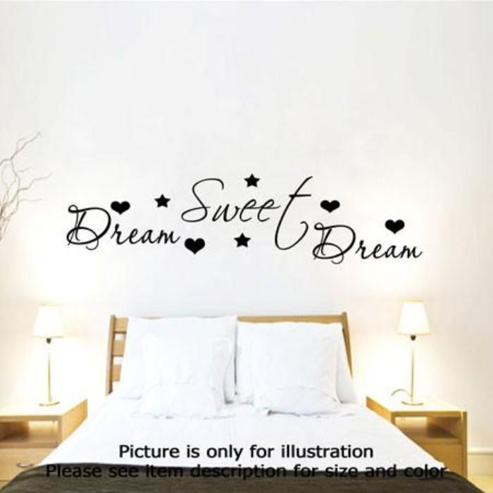 Dream Sweet Dream Romantic Bedroom Wall Quote