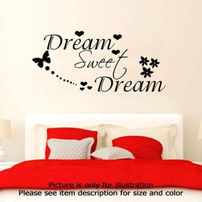 Dream Sweet Dream Bedroom Wall Quote