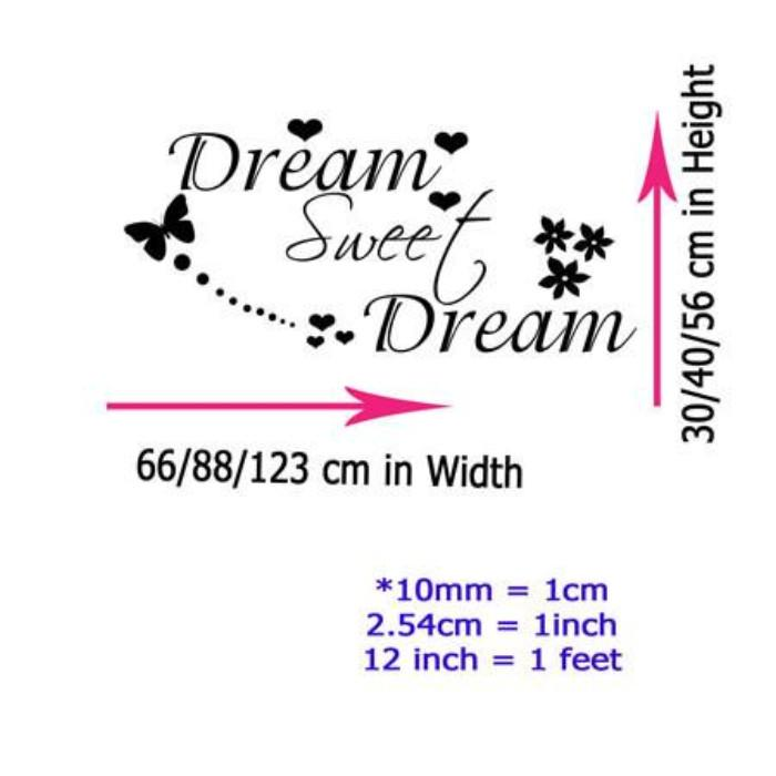 Sweet Dream Bedroom Wall Quote
