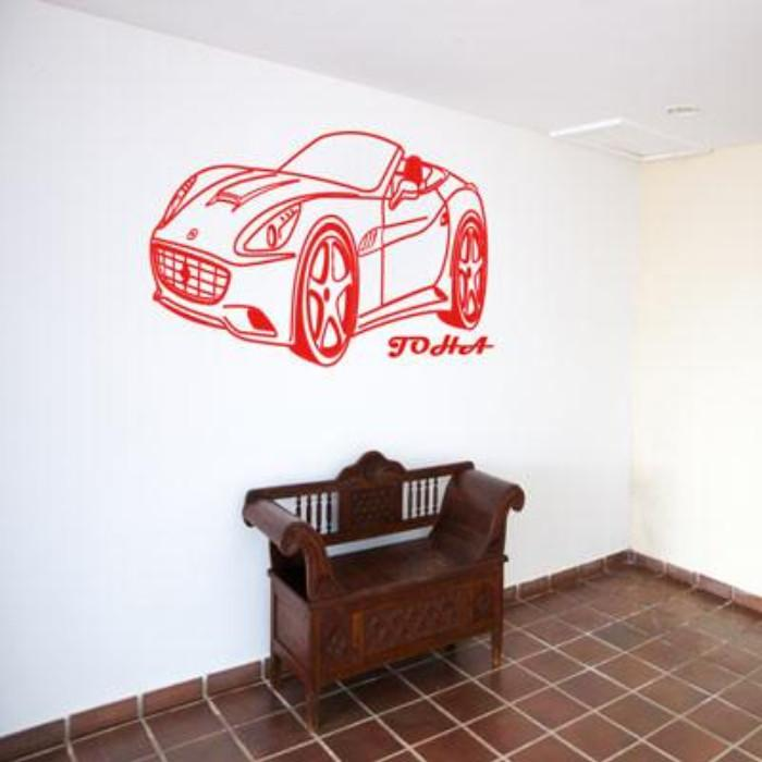 Ferrari California CAR Personalised Name Vinyl Wall Art Wall Sticker ...