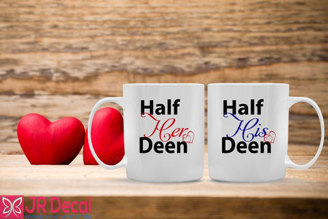 Heart Shaped Printed Personilized Islamic Mug for Muslim Couple