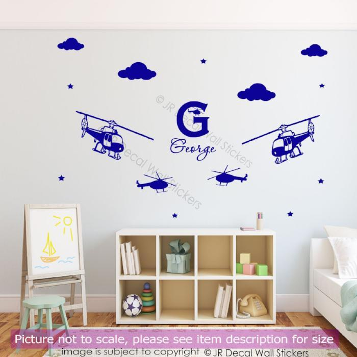 Army military helicopter vinyl decals with personalised name helicopter personalised name wall vinyl decals helicopter personalised name wall vinyl decals amipublicfo Images