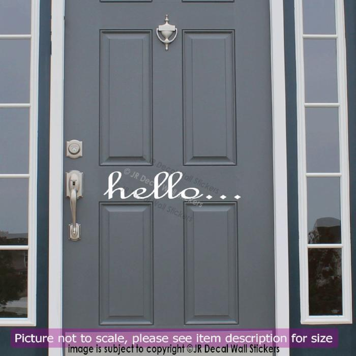 Hello Home Shop Office business Greeting Door Sign