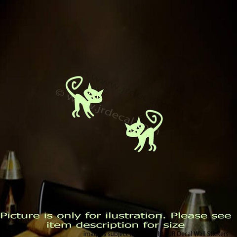 Halloween CAT Glow in the Dark 2 pieces Wall Stickers