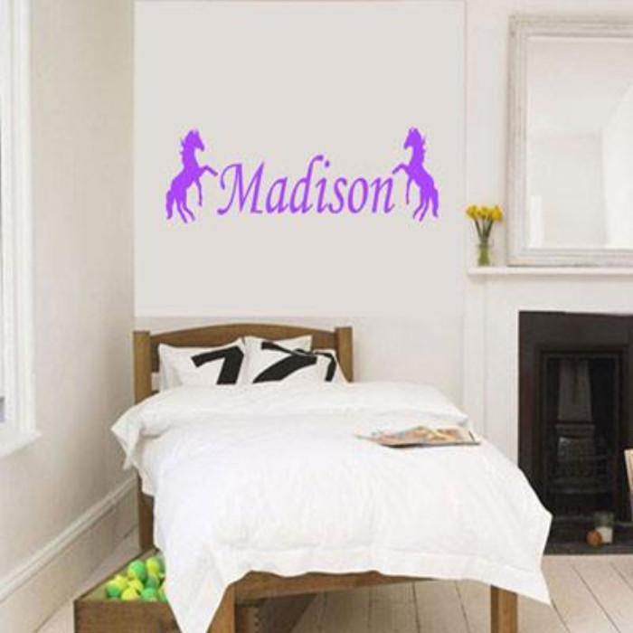Custom Name with Standing Horse wall stickers