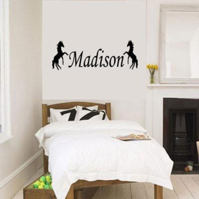 Standing Horse wall stickers with Personalised name sticker