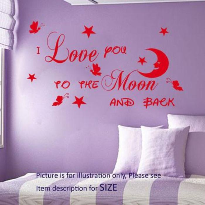 """To the Moon And Back""- Nursery wall stickers"