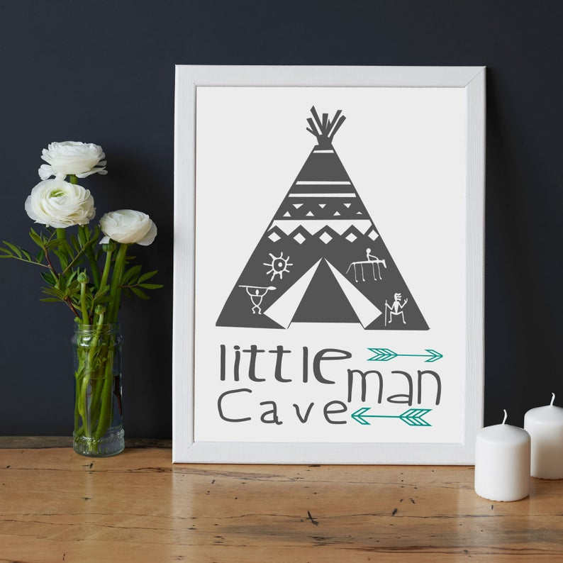 Little man Cave Frame wall art for Boy - Picture Frame