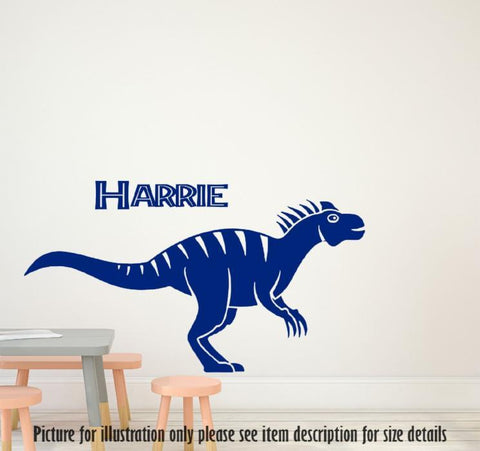 Personalised Dinosaur Wall Sticker Dino Wall Decal Children Kids Nursery Vinyl Wall Art Sticker Bedroom Playroom Allosaurus Art