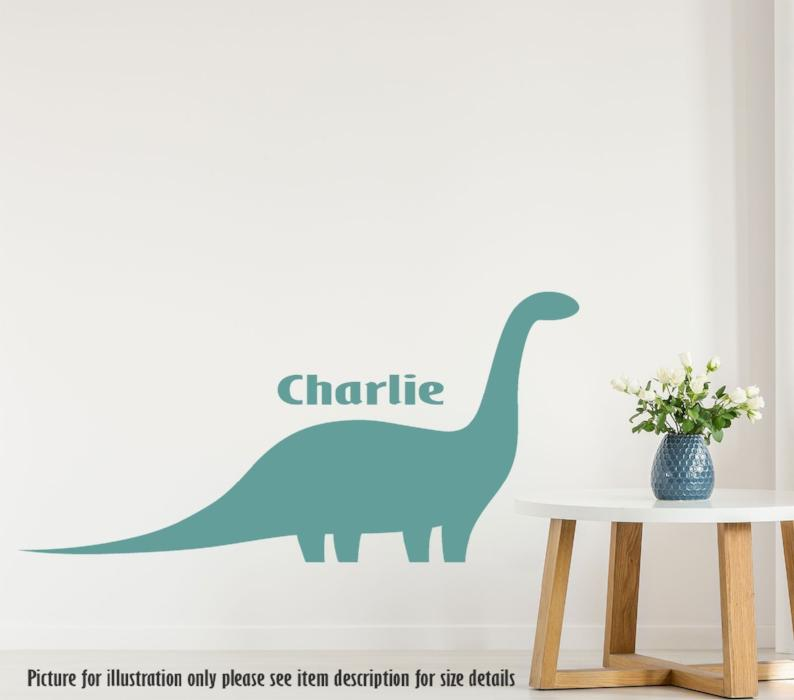Dinosaur stickers, Jurassic world wall stickers, Personalised name sticker