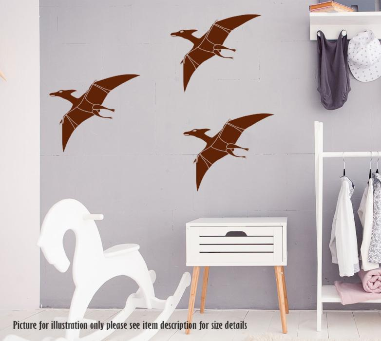 Pterodactyl Dinosaur Wall Sticker, Dino Wall Decal, Children Kids Bedroom Playroom Decor, Jurassic world Nursery Vinyl Wall Art Sticker