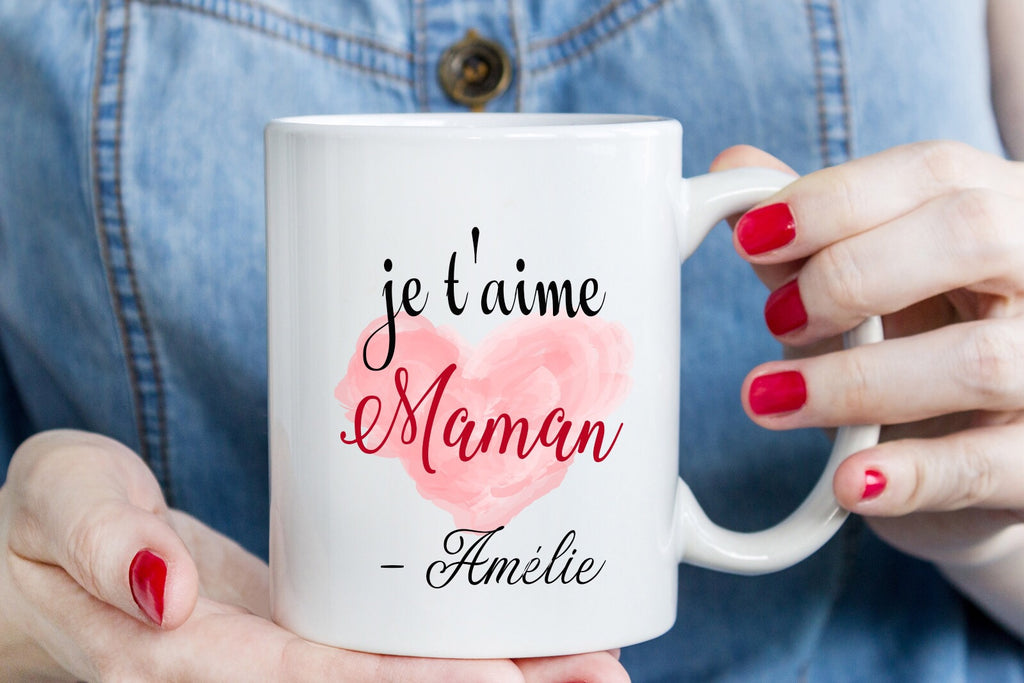 je t'aime Maman - Mugs for Mom - Mother's Day gift