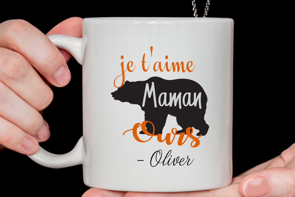 -je t'aime Maman ours - mugs for Mom - Mother's Day gift