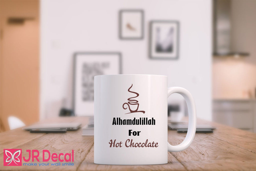 Alhamdulillah for hot chocolate printed Islamic Mugs