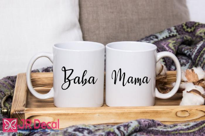 Mug set for BABA and MAMA