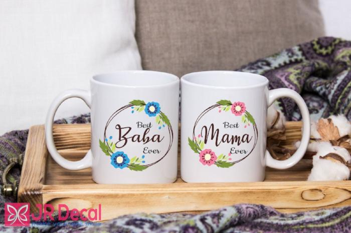Best Baba and Mama Ever Islamic Mugs Gifts for Muslim Fathers and Mothers Coffee Cups