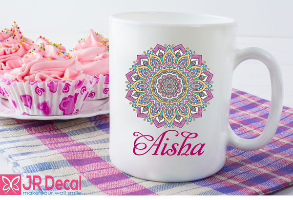 Personalized name printed Islamic Pattern mug