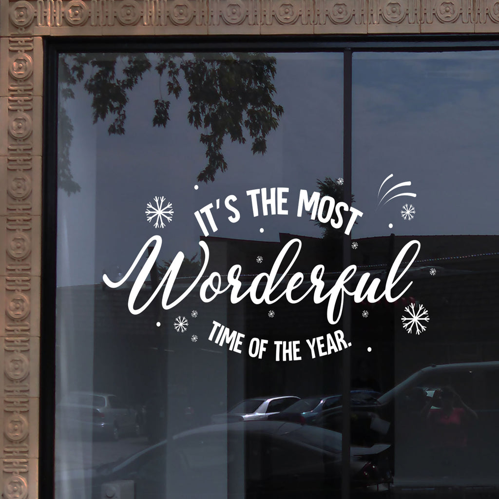 """Most Wonderful Time of the Year"" - Christmas wall sticker"