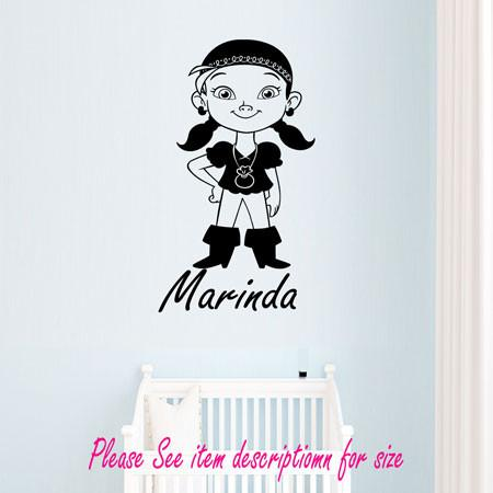 Neverland pirates IZZY Vinyl Wall Art Stickers