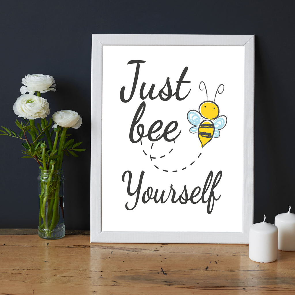 'Just Bee Yourself'- Printed Frame Wall Art for Kids