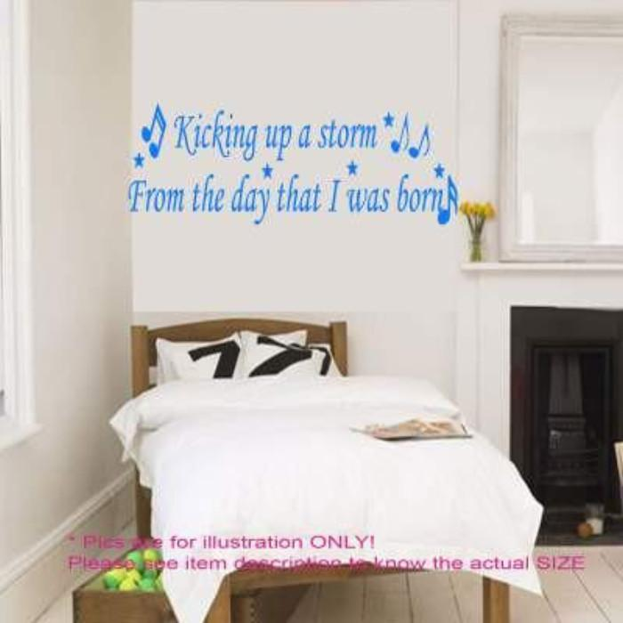 "Oasis Be Here Now ""Kicking up a Storm""- Music quote wall stickers"
