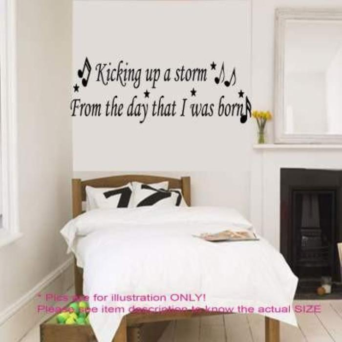 "Oasis Be Here Now ""kicking up a storm"" - Music quote wall stickers"