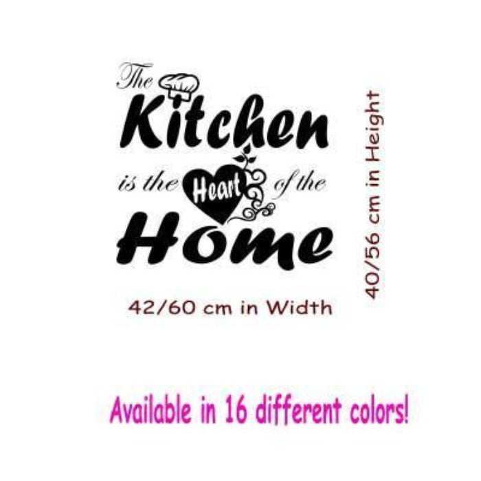 The Kitchen Is The Heart Of The Home Vinyl Stickers Jr