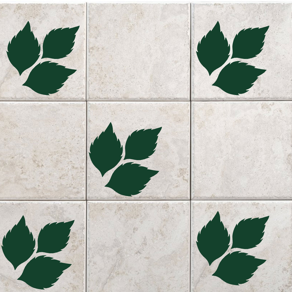 Colorful Leaf Tile wall Sticker for Bathroom
