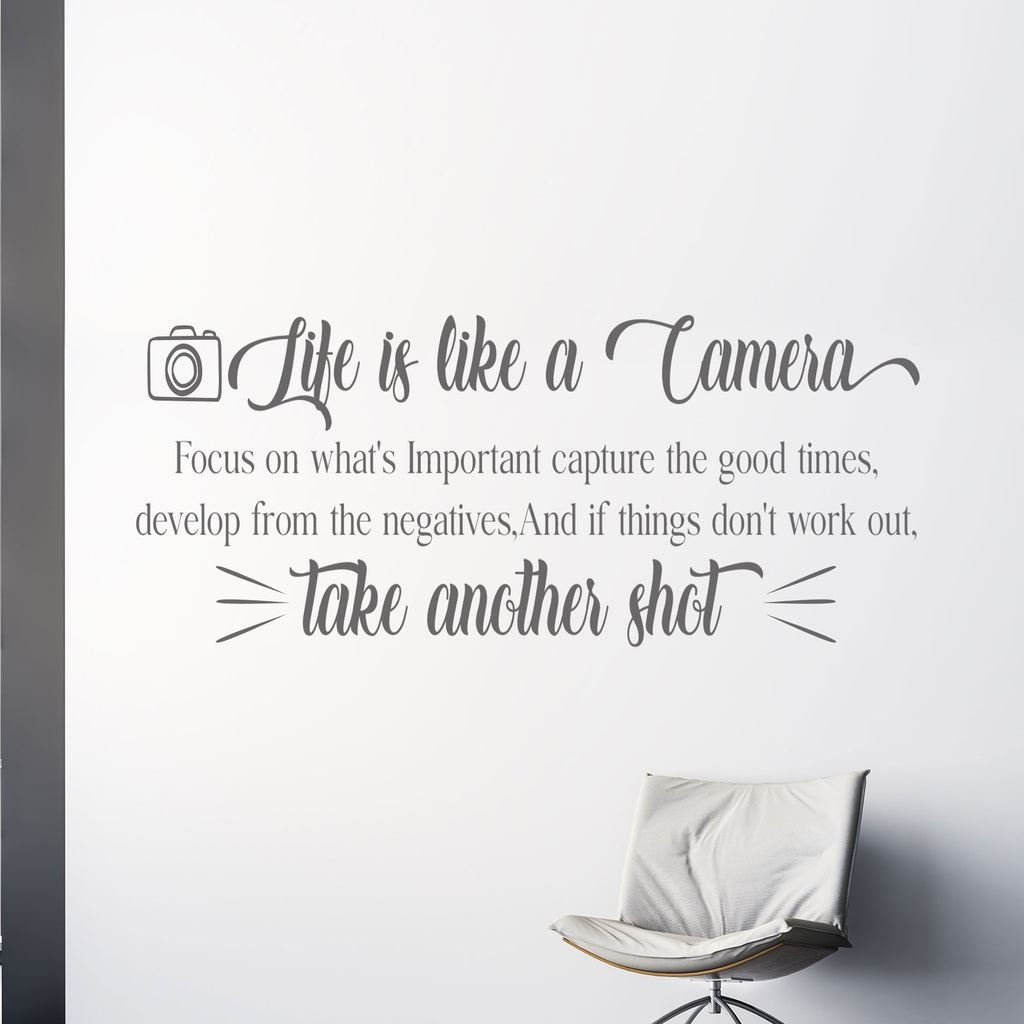 """Life is Like a Camera"" - Motivational Quote Wall Art"