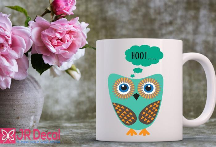 Cute Hoot Owl Printed Mug for Kid