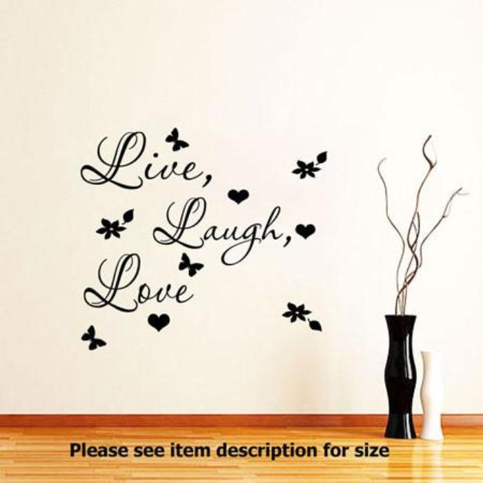 ... Live Laugh Love Wall Quote Stickers Removable Vinyl Decal ... Part 64