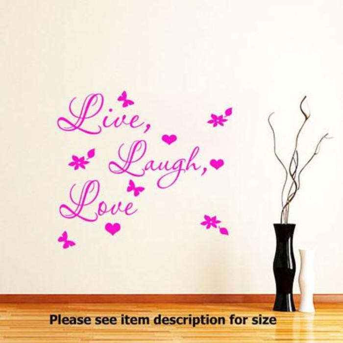 Live Laugh Love Wall Quote Stickers Removable Vinyl Decal