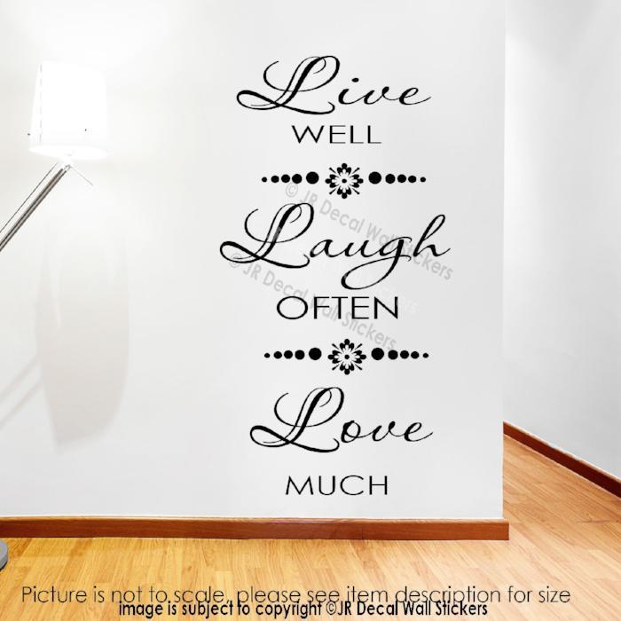 LIVE LAUGH LOVE Quote Wall Decal Vinyl Removable