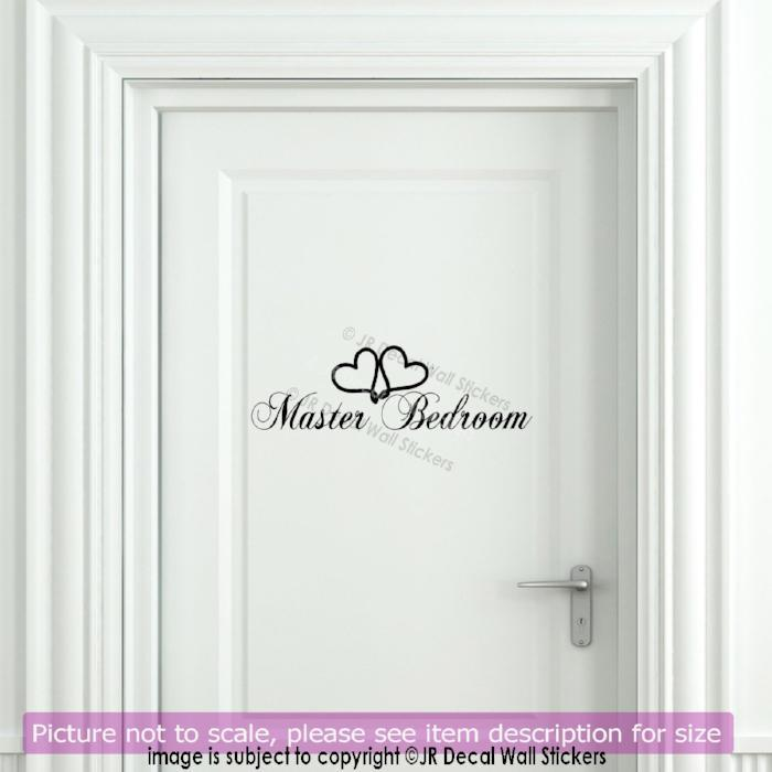 Master Bedroom Door Sign Vinyl Sticker HK23