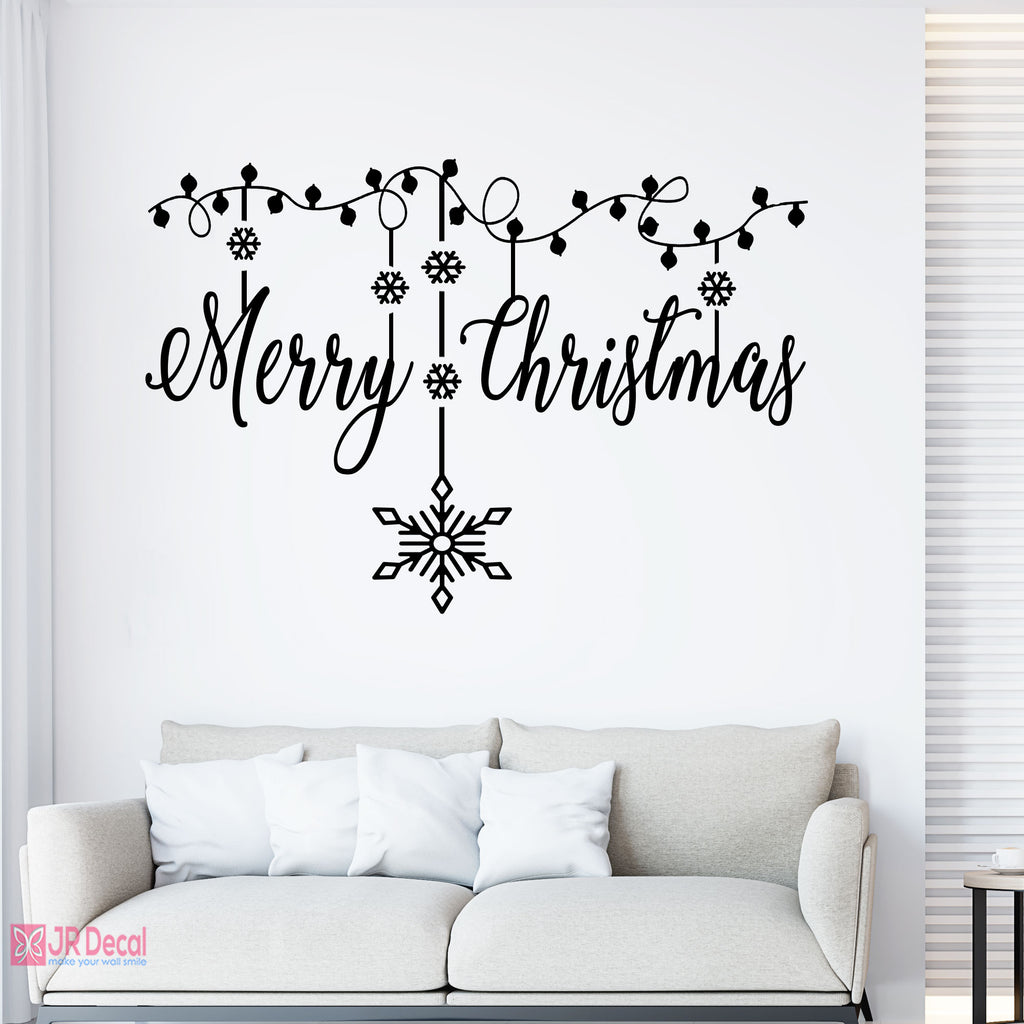 Merry Christmas wall decorations with Snowflakes