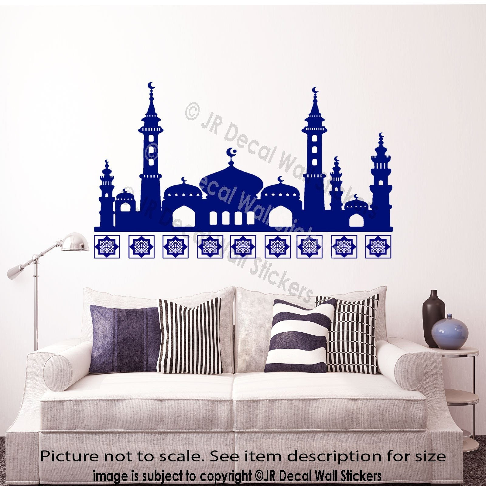 islamic wall art sticker mosque shape arabic vinyl wall art home islamic wall art stickers mosque shape arabic patterns art decals home decor jrd qv