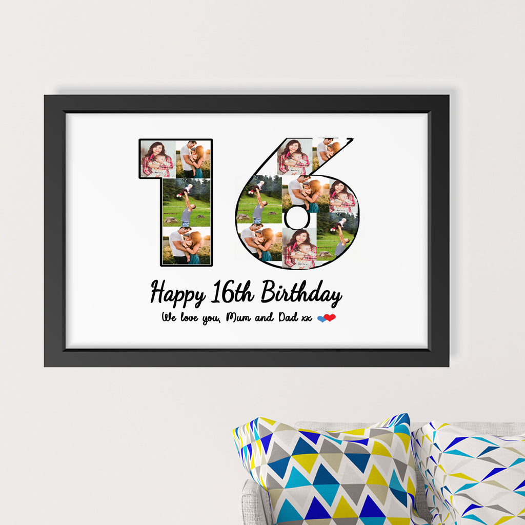 Customized Number Photo Frame for Parents