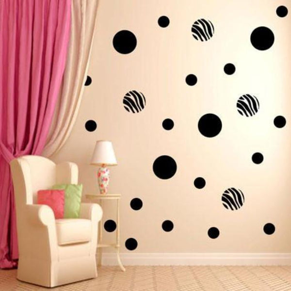 Polka Dot Wall Stickers Zebra print