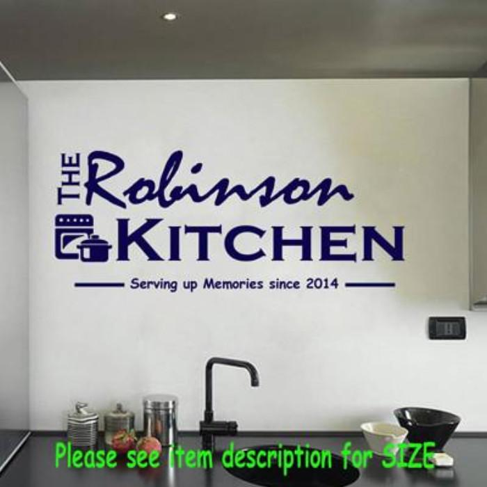 Personalised kitchen wall stickers