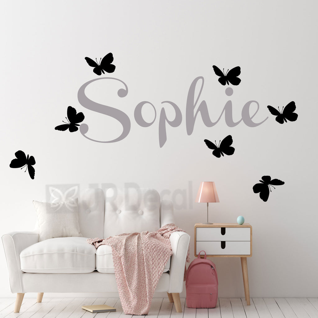 Girl's Personalised Name wall stickers