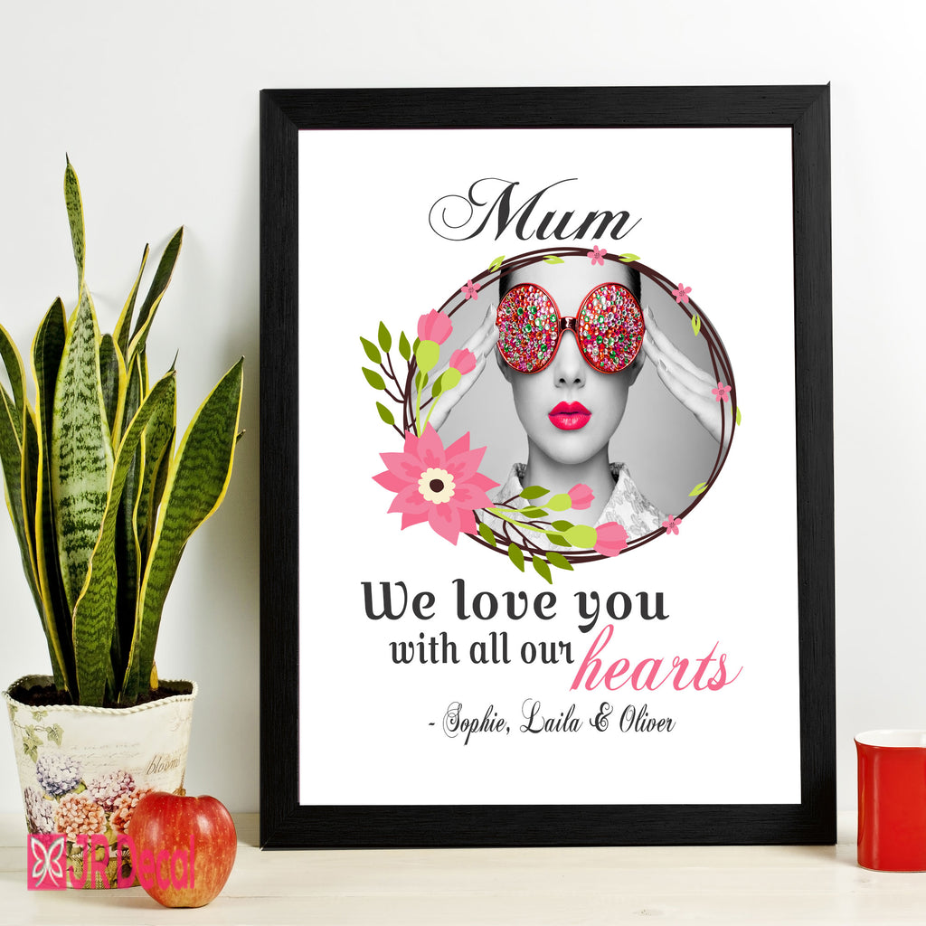 """We Love You"" Personalized Photo Frame for Mum"