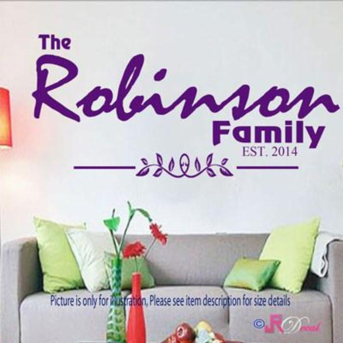 Personalised Family Name Wall Stickers