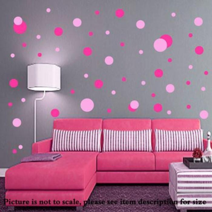 Polka Dot Wall Stickers Mix Color