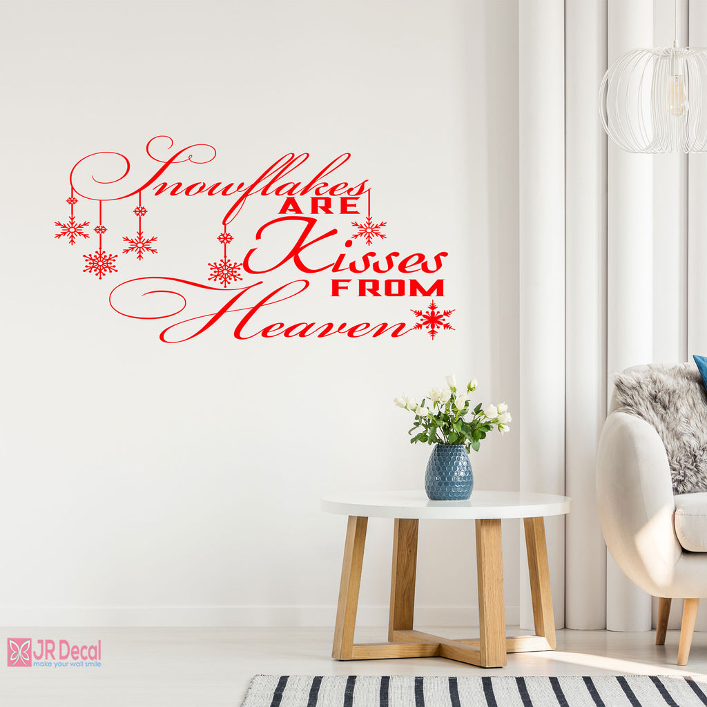 Snowflake Quote wall sticker