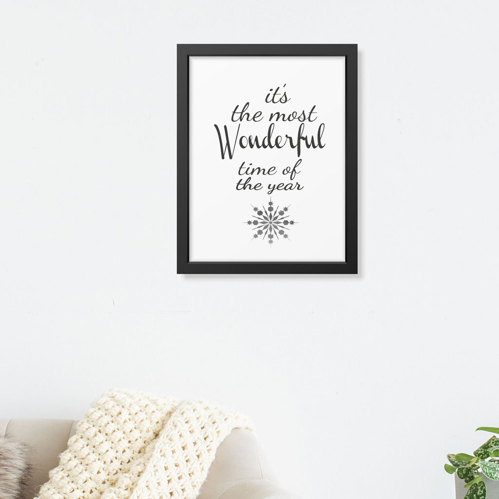 """Wonderful Time of the Year"" - Printed Picture Frame"